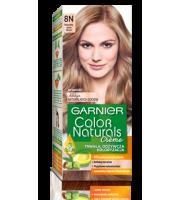 Garnier, Color Naturals Crème, Trwała farba do włosów, 8N NATURALNY JASNY BLOND, 100 + 10 ml