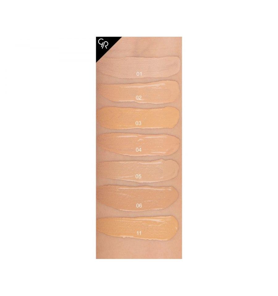 Golden Rose, Total Cover 2in1 Foundation&Concealer, Kryjący podkład i korektor, 02 IVORY, 30 ml