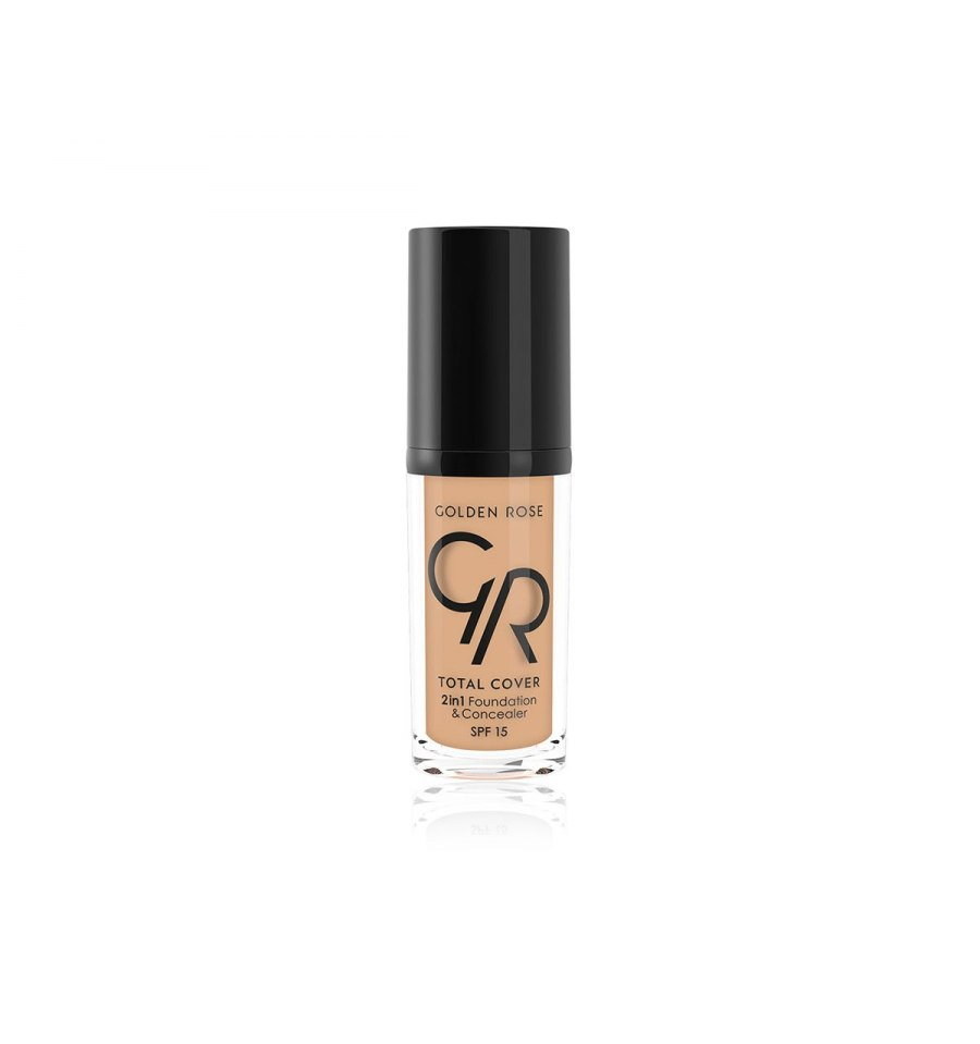 Golden Rose, Total Cover 2in1 Foundation&Concealer, Kryjący podkład i korektor, 04 BEIGE, 30 ml