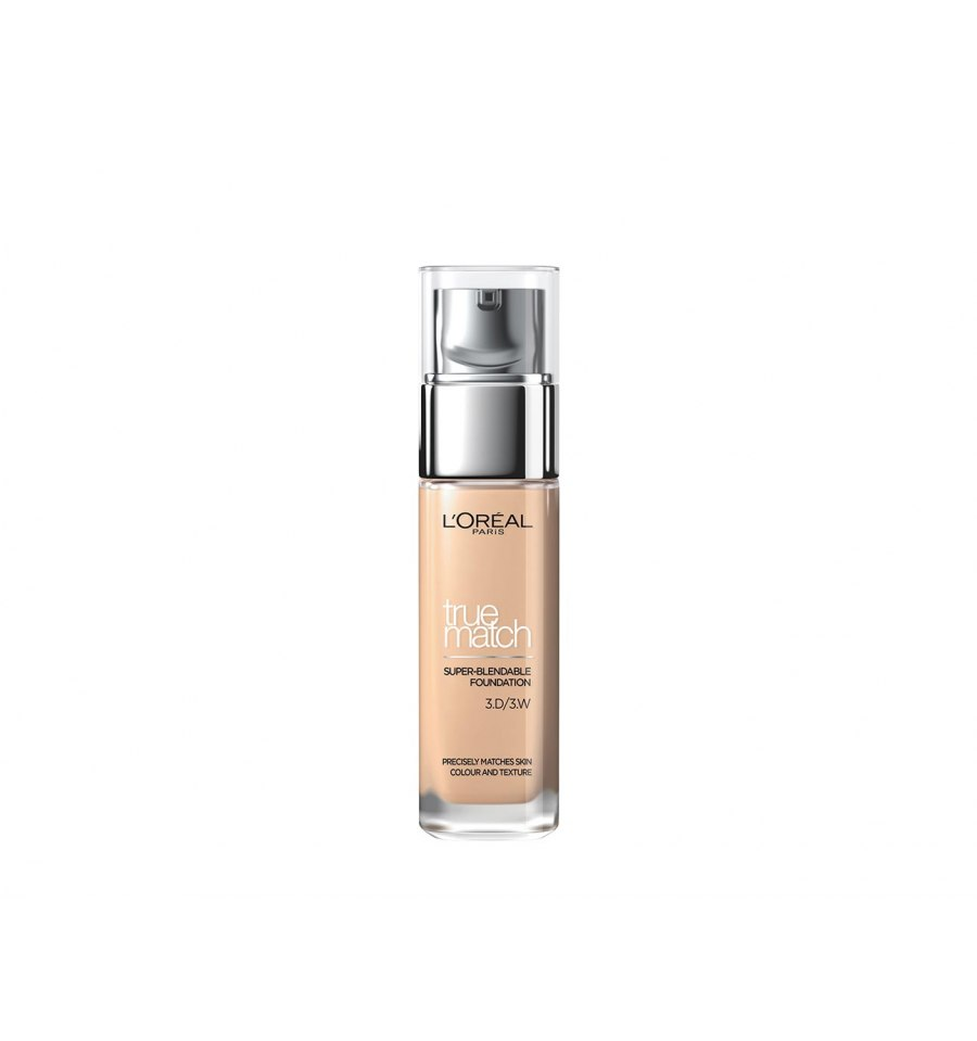 L'Oreal, True Match, Podkład do twarzy, 3.D/3.W GOLDEN BEIGE, 30 ml
