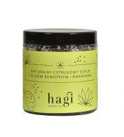 Hagi, Naturalny cytrusowy scrub do ciała z olejem konopnym i makadamia, 300 ml