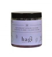 Hagi, Naturalny scrub do ciała z olejem z pestek śliwki i jojoba, 300 ml