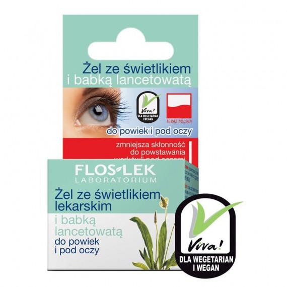 Flos-Lek, Żel do powiek i pod oczy ze ŚWIETLIKIEM I BABKĄ LANCETOWATĄ, 10 g
