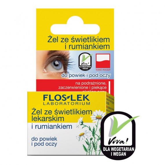 Flos-Lek, Żel do powiek i pod oczy ze ŚWIETLIKIEM I RUMIANKIEM, 10 g