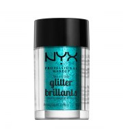 NYX, Face & Body Glitter, Brokat 03 TEAL, 2.5 g