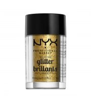 NYX, Face & Body Glitter, Brokat 05 GOLD, 2.5 g