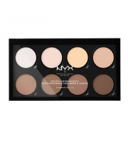 NYX, Highlight & Contour Pro Palette, Paleta do konturowania, 21.6 g