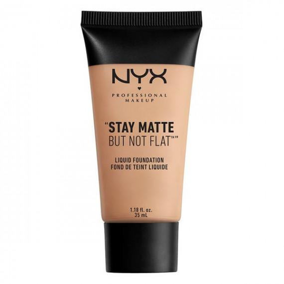 NYX,  Stay Matte But Not Flat, Podkład w płynie, 05 SOFT BEIGE, 35 ml
