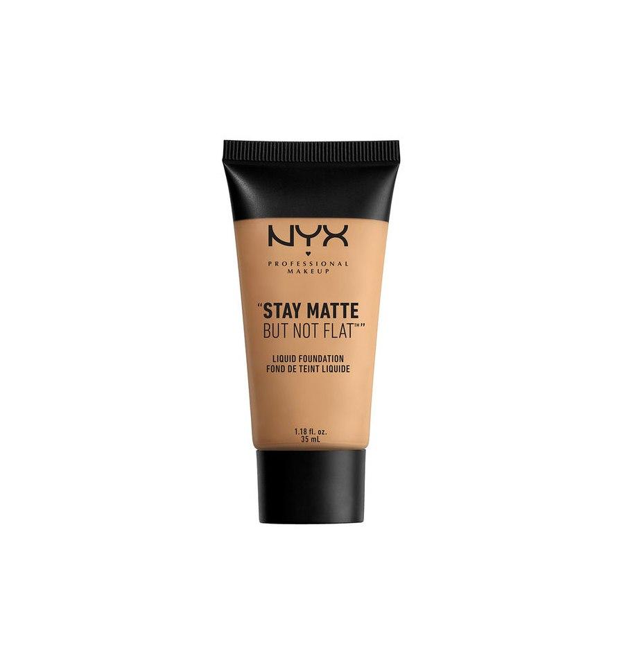 NYX,  Stay Matte But Not Flat, Podkład w płynie, 07 WARM BEIGE, 35 ml