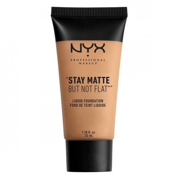 NYX,  Stay Matte But Not Flat, Podkład w płynie, 08 GOLDEN BEIGE, 35 ml