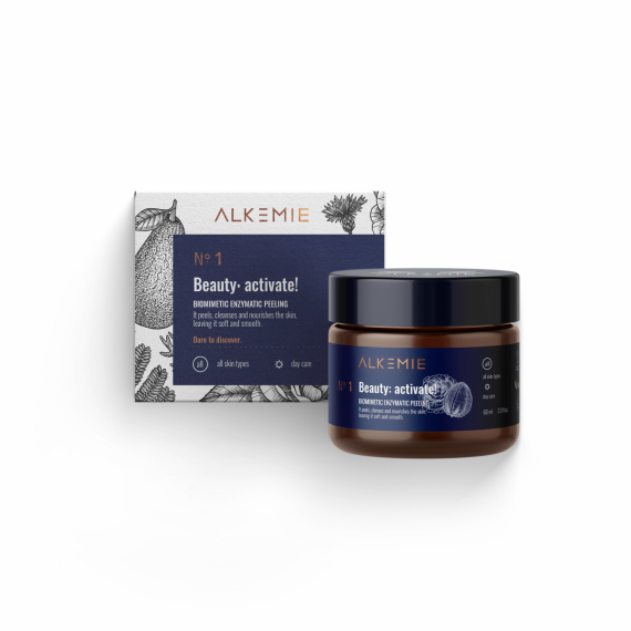 Alkemie, ANTI AGE, N.1 Beauty: activate, Biomimetyczny peeling enzymatyczny, 60 ml