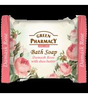 Green Pharmacy, Mydło toaletowe RÓŻA DAMASCEŃSKA i MASŁO SHEA, 100 g
