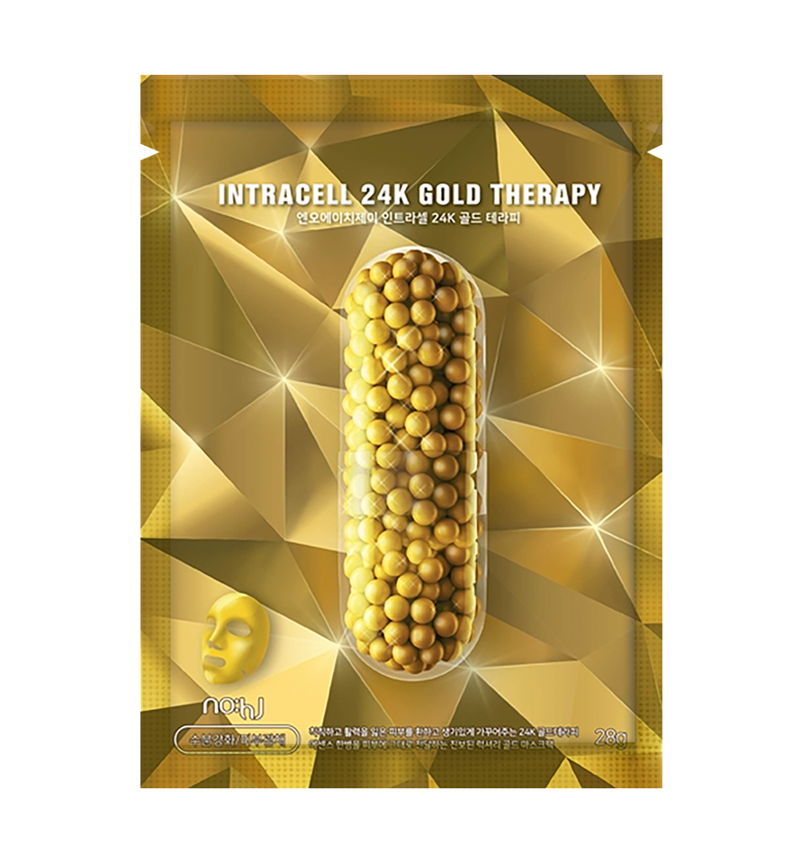 NO:HJ, Intracell 24K Gold Theraphy Mask Pack, Maska złota terapia, 28 g