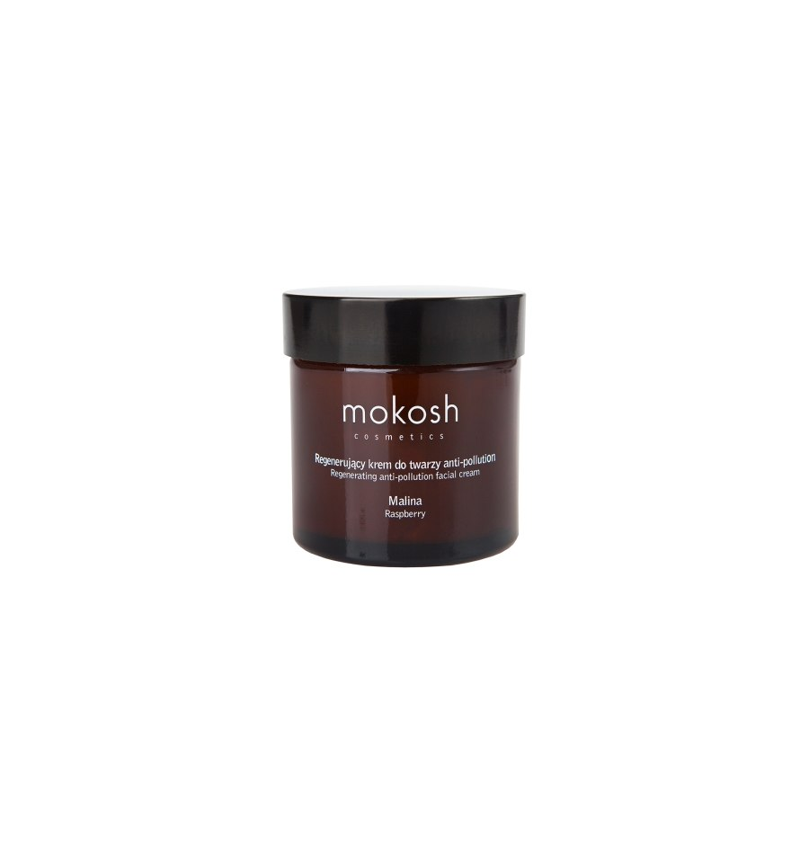 Mokosh, Regenerujący krem do twarzy ANTI-POLLUTION Malina, 60 ml