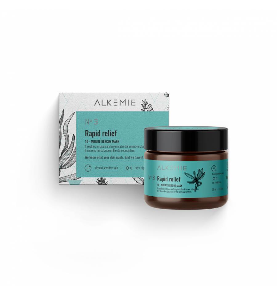 Alkemie, MICROBIOME, N.3 Rapid relief, 10-minutowa maska ratunkowa, 60 ml