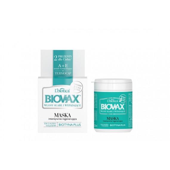 L'biotica, BIOVAX, Maska do włosów słabych i wypadających, 250 ml