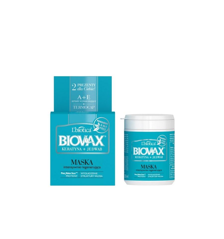L'biotica, BIOVAX, Maska do włosów zniszczonych i przesuszonych, KERATYNA + JEDWAB, 250 ml