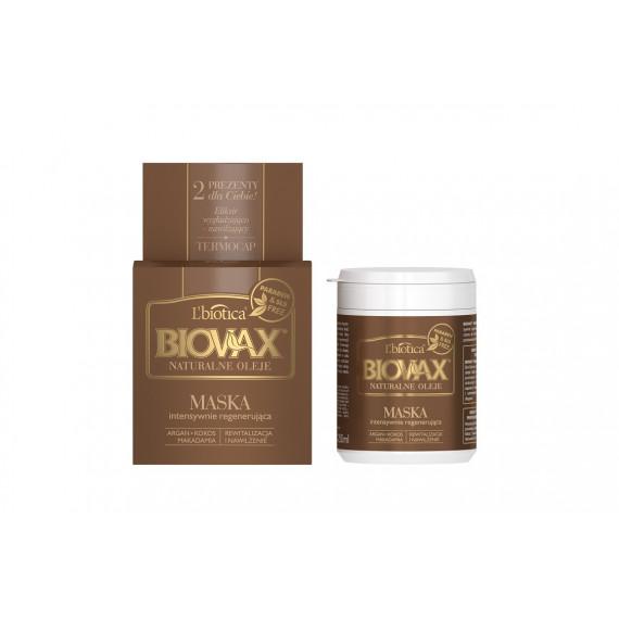 L'biotica, BIOVAX, Maska do włosów Rewitalizacja i nawilżenie, NATURALNE OLEJE, 250 ml