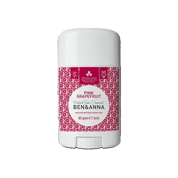 Ben&Anna, Naturalny dezodorant w sztyfcie, PINK GRAPEFRUIT, 60 g