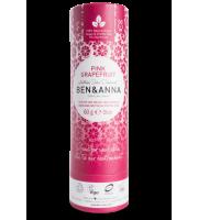 Ben&Anna, Naturalny dezodorant w KARTONOWYM sztyfcie, PINK GRAPEFRUIT, 60 g
