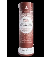 Ben&Anna, Naturalny dezodorant w KARTONOWYM sztyfcie, NORDIC TIMBER, 60 g