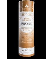 Ben&Anna, Naturalny dezodorant w KARTONOWYM sztyfcie, INDIAN MANDARINE, 60 g