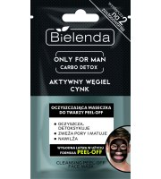 Bielenda, Only for Man, CARBO DETOX, Oczyszczająca maseczka do twarzy PEEL-OFF, 12 g