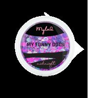 MylaQ, Ozdoba paznokci, M208-3, My Funny Dots MIDNIGHT, 3 g