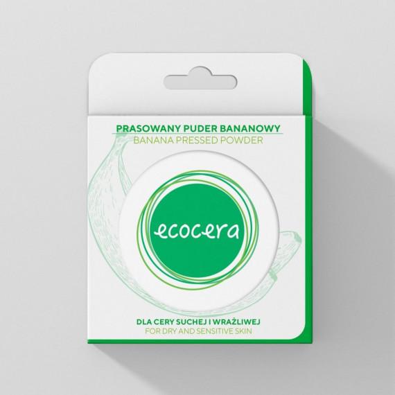 Ecocera, Prasowany puder BANANOWY, 10 g