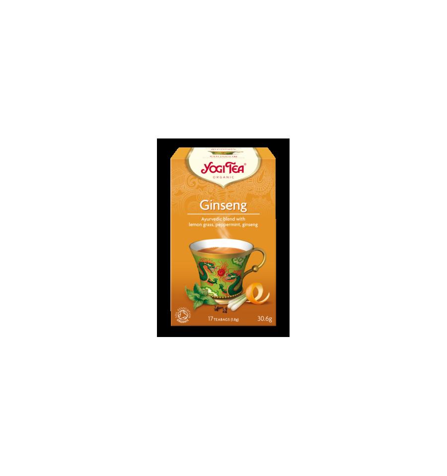 Yogi Tea, Ginseng, Herbata z Żeń-szeniem, 17 torebek