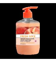Fresh Juice, Kremowe mydło w płynie, PEACH & MAGNOLIA, 460 ml