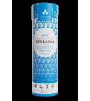 Ben&Anna, Naturalny dezodorant w KARTONOWYM sztyfcie, PURE, 60 g