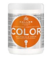 Kallos, COLOR, Maska z olejem z ziarna lnu, 1000 ml