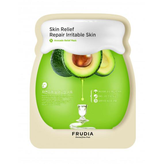Frudia, Avocado Relief Mask, Odżywczo-regenerująca maska w płacie, 27 ml