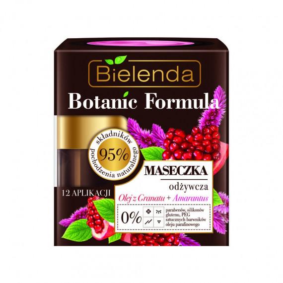 Bielenda, BOTANIC FORMULA, Maseczka odżywcza do twarzy Olej z Granatu + Amarantus, 50 ml