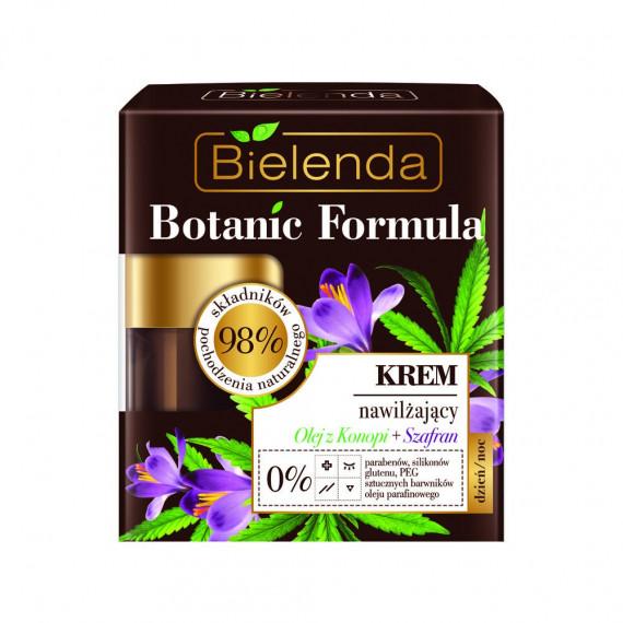 Bielenda, BOTANIC FORMULA, Krem nawilżający dzień/ noc Olej z Konopi + Szafran, 50 ml