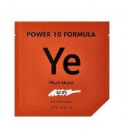 It's Skin, Power 10 Formula YE, Mask Sheet, Regenerująca maska w płacie z wyciągiem z drożdży, 25 ml