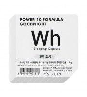 It's Skin, Power 10 Formula WH, Good Night Sleeping Capsule, Rozjaśniająca dwufazowa maseczka całonocna, 5 g