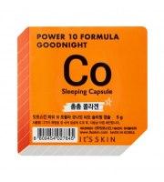 It's Skin, Power 10 Formula CO, Good Night Sleeping Capsule, Ujędrniająca dwufazowa maseczka całonocna z ekstensyną, 5 g
