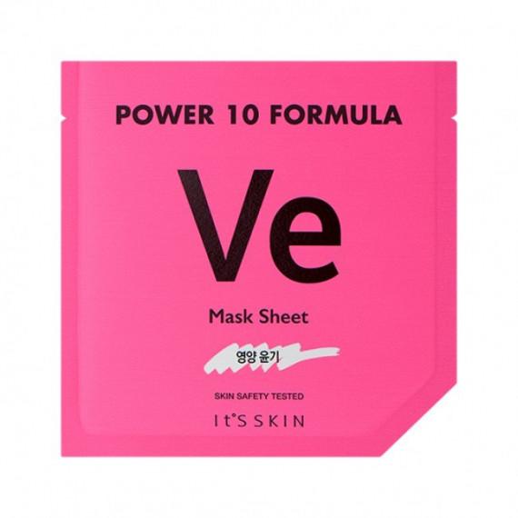 It's Skin, Power 10 Formula VE, Mask Sheet, Odmładzająca maska w płacie z wit. E, 25 ml
