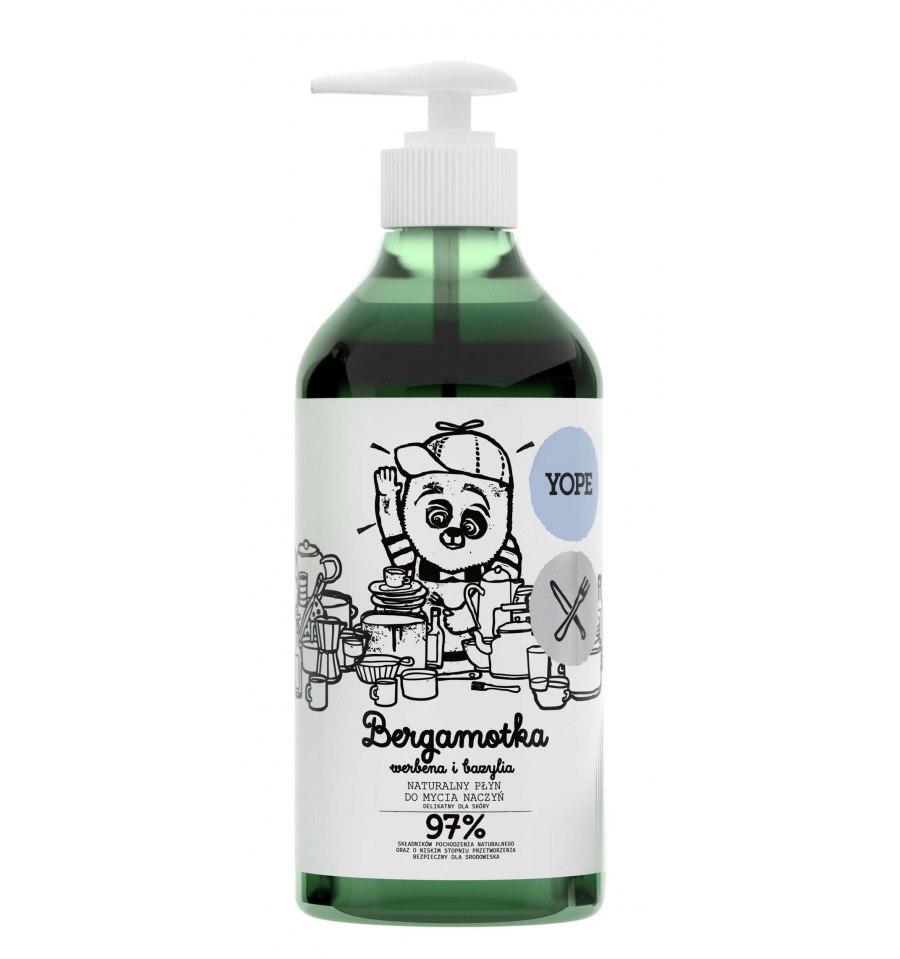 Yope, Naturalny płyn do mycia naczyć bergamotka, werbena i bazylia, 750 ml