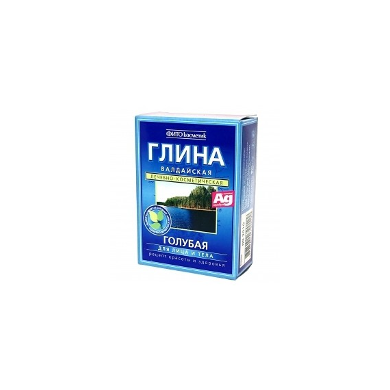 Fitokosmetik, Wałdajska glinka kosmetyczna - błękitna (z jonami srebra) 100 g