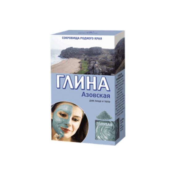Fitokosmetik, Azowska glinka kosmetyczna - błękitna - tonizująca, 100 g