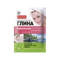 Fitokosmetik, Karelska glinka - różowa - tonizująca, z dodatkiem ziół, 75 g