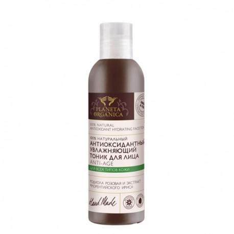 Planeta Organica, Antyoksydacyjny nawilżający tonik do twarzy, anti-age, 200 ml