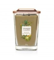 Yankee Candle, ELEVATION, PEAR & TEA LEAF, Świeca kwadratowa duża, 552 g