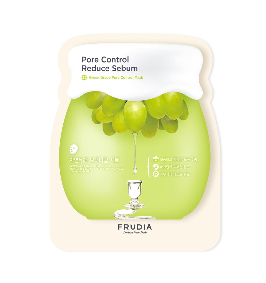 Frudia, Maseczka w płacie, Green Grape Pore Control Sheet Mask, 27 ml