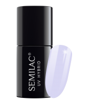 Semilac, 127 Lakier hybrydowy UV Hybrid Semilac Violet Cream 7 ml