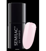 Semilac, 128 Lakier hybrydowy UV Hybrid Semilac Pink Marshmallow 7 ml