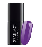 Semilac, 129 Lakier hybrydowy UV Hybrid Semilac Violet Bliss 7 ml